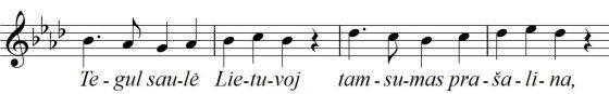 Himno eilutės