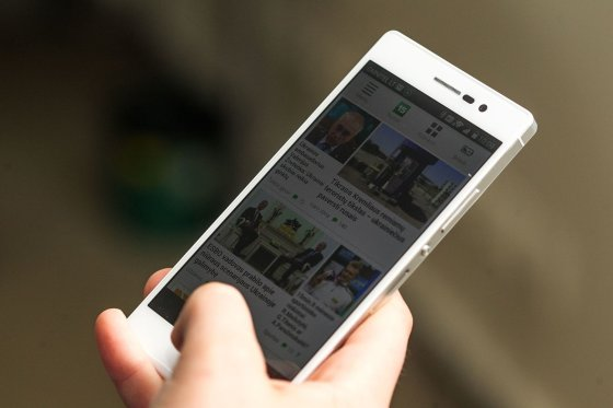 "Irmanto Gelūno/15min.lt nuotr./""Huawei Ascend P7"""