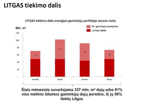 """""""Litgas"""" inf./""""Litgas"""" energijos gamintojams tiekiama dalis"""