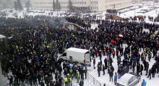 """AFP/""""Scanpix"""" nuotr./Angliakasių streikas Lenkijoje"""