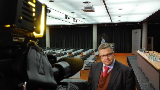 Jurgitos Lapienytės/15min.lt nuotr./Lietuvos banko valdybos pirmininkas Vitas Vasiliauskas Frankfurte prie Maino