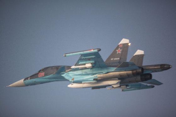 Norvegijos pilotų užfiksuotas Rusijos orlaivis Su-34