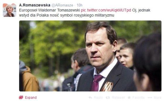 """Žurnalistė Agnieszka Romaszewska-Guzy pasidalino nuotrauka """"Twitter"""" socialiniame tinkle"""
