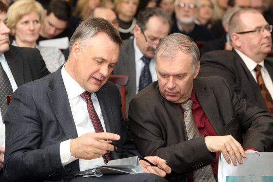 Eriko Ovčarenko/15min.lt nuotr./Robertas Dargis (k.) ir Rimantas Rudzkis