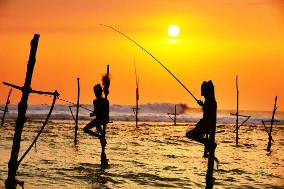 123rf.com nuotr./Egzotiški žvejai Šri Lankoje