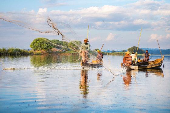 123rf.com nuotr./Mianmare plytintis Inlės ežeras