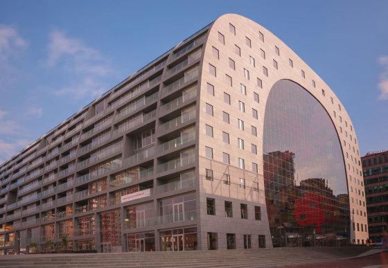 123rf.com nuotr./Roterdamo turgaus ir butų pastatas