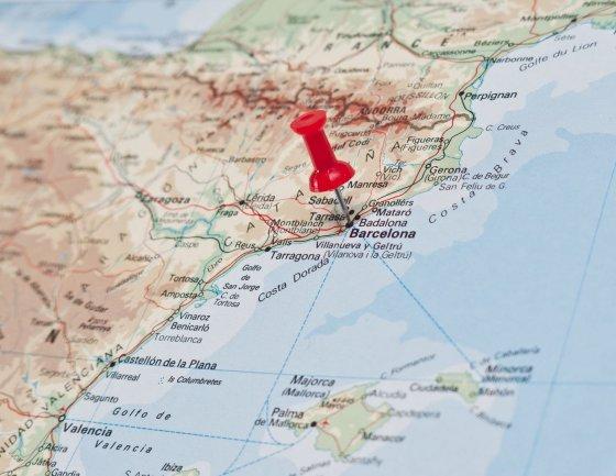 123rf.com nuotr./Barselona žemėlapyje