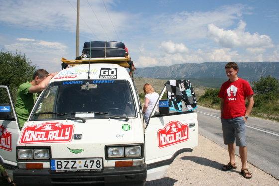 """Go bananas komandos nuotr./""""Go bananas"""" nuotykiai Albanijoje"""