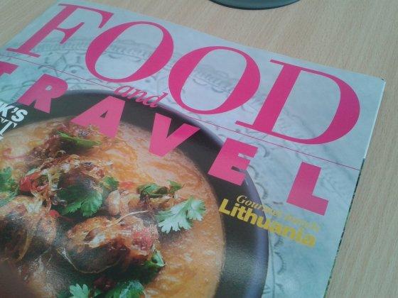 """Lietuvos turizmo departamento nuotr./Viršelis """"Food and Travel"""""""
