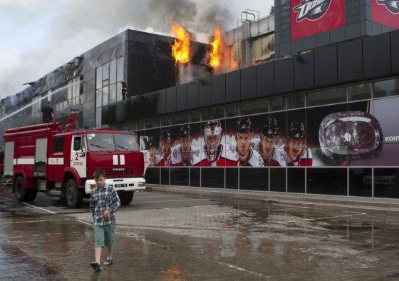 """Reuters""/""Scanpix"" nuotr./Donecko ledo ritulio klubo Donbass arena"