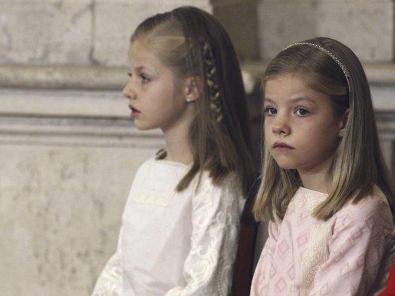 """Scanpix"" nuotr./Felipės dukros - infantos Leonor ir Sofia"