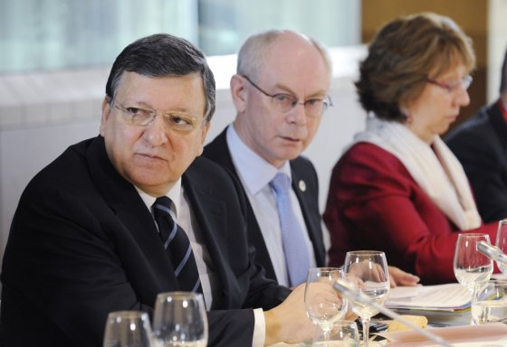 """Scanpix"" nuotr./Jose Manuelis Barroso, Hermanas Van Rompuy ir Catherine Ashton"