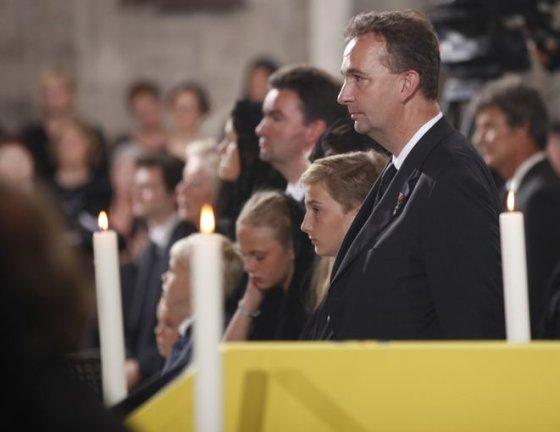 Karlas Habsburgas-Lothringenas prieš keletą metų mirusio savo tėvo Otto von Habsburgo laidotuvėse.