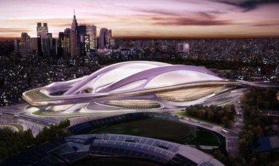 Zahos Hadid projektas Tokijo olimpiniam stadionui