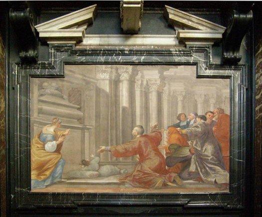 Michellangelo Palloni freska Vilniaus arkikatedros Kazimiero koplyčioje