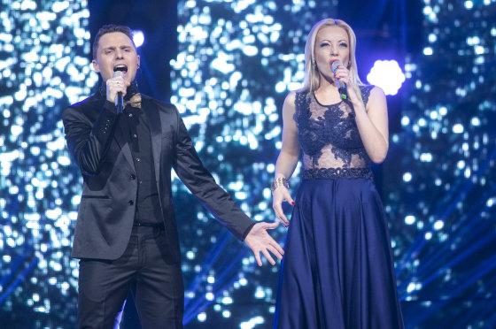 """Luko Balandžio/Žmonės.lt nuotr./Penktosios """"Eurovizijos"""" atrankos laidos filmavimo akimirka"""