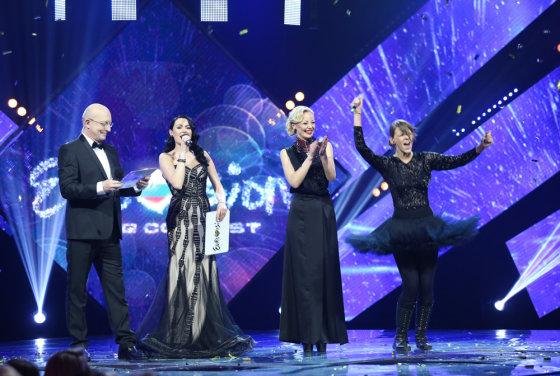 """Luko Balandžio/Žmonės.lt nuotr./""""Eurovizijos"""" atrankos finalo akimirka"""