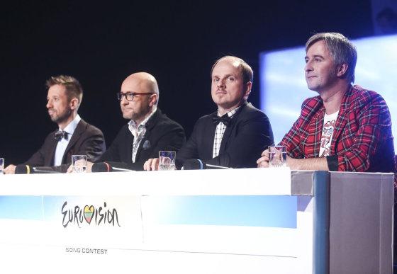 """Luko Balandžio/Žmonės.lt nuotr./Kadras iš """"Eurovizijos"""" filmavimo"""