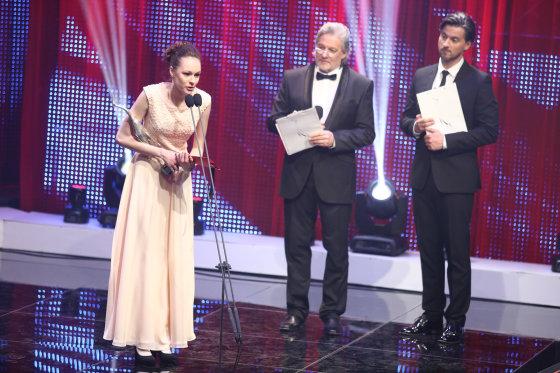 """Luko Balandžio/Žmonės.lt nuotr./""""Sidabrinės gervės 2014"""" ceremonijos akimirka"""