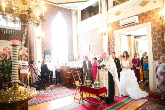 Viganto Ovadnevo/Žmonės.lt nuotr./Anatolijaus Oleiniko ir Ingos Klincarienės vestuvės
