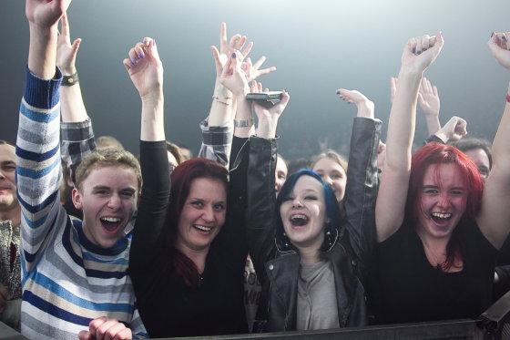 """Viganto Ovadnevo/Žmonės.lt nuotr./""""Within Temptation"""" koncerto akimirka"""
