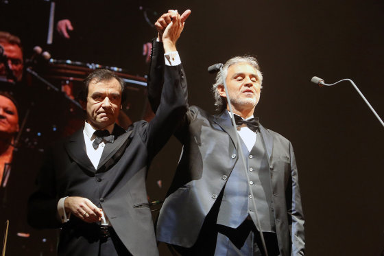 Teodoro Biliūno/Žmonės.lt nuotr./Marcello Rota ir Andrea Bocelli