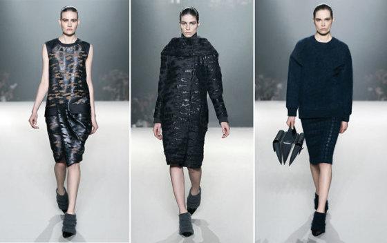 Alexander Wang facebook paskyros nuotr. Alexander Wang 2014 m. žiemos kolekcijos modeliai.