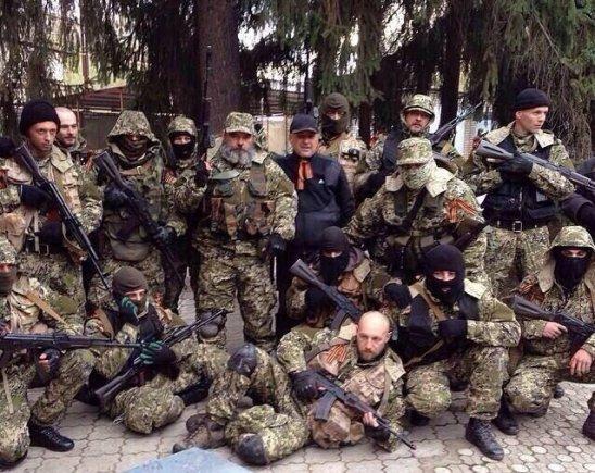"""""""Twitter"""" nuotr./""""Žali žmogeliukai"""" Rytų Ukrainoje"""