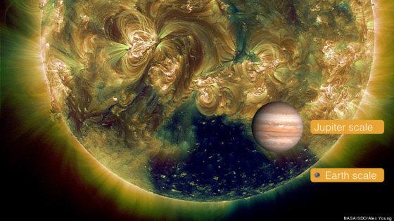 NASA nuotr./Gigantiška Saulės kiaurymė