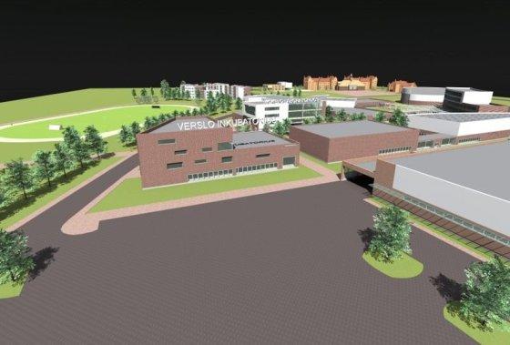 Klaipėdos universiteto nuotr./Oficialiai pradėtos Klaipėdos universiteto verslo inkubatoriaus statybos