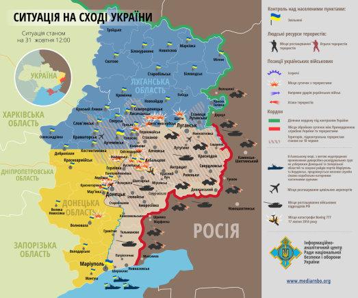Situacija Rytų Ukrainoje spalio 31 d.