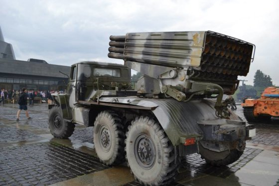 Ukrainos Gynybos ministerijos nuotr./Teroristų ginklų paroda Kijeve