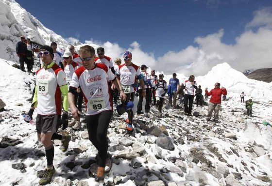 "AFP/""Scanpix"" nuotr./Everesto maratonas (Tenzing-Hillary Everest Marathon)"