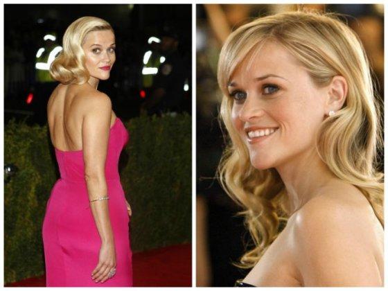 """""""Scanpix"""" nuotr./Reese Witherspoon (kairėje 2014 m., dešinėje - 2002 m.)"""
