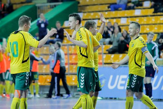 A.Koroliovo ir V.Knyzelio/LFF.lt nuotr./Lietuvos salės futbolininkų pergalė Europos čempionato atrankoje