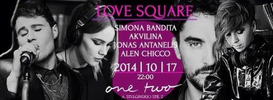 """Renginio """"Love Square"""" plakatas"""