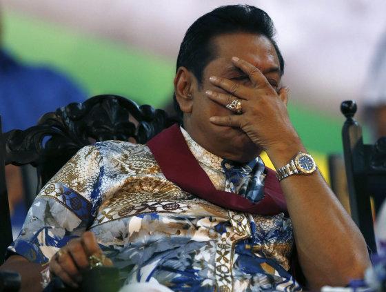 """Reuters""/""Scanpix"" nuotr./Buvęs Šri Lankos prezidentas Mahinda Rajapaksa"