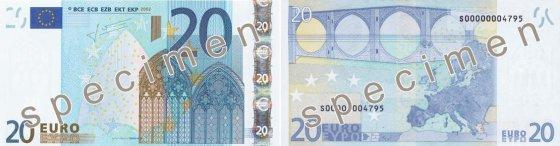 20 eurų banknotas