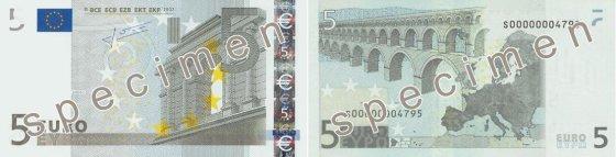 5 eurų banknotas