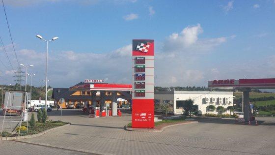 Degalinė Lenkijoje