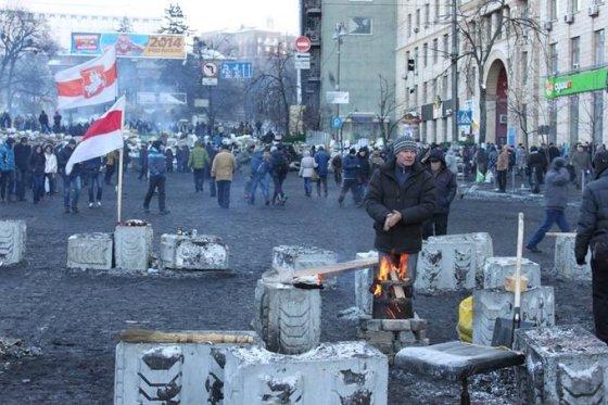 Baltarusių postas Gruševskio aikštėje