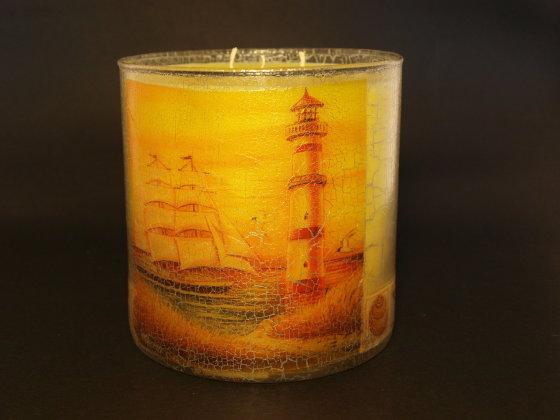 I.Čižienės nuotr./I.Čižienės rankų darbo žvakė