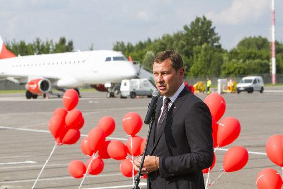 """Mato Dauginio/15min.lt nuotr./Bendrovės """"Air Lituanica"""" inauguracija ir pirmasis skrydis"""