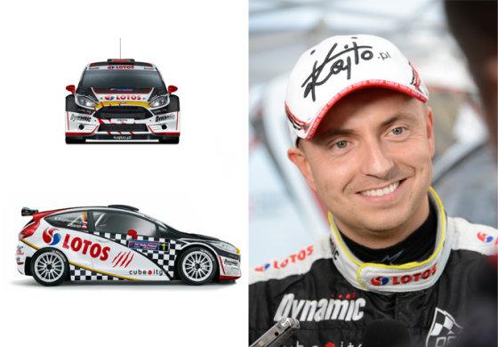"""(""""Lotos Rally Team"""" nuotr.)/Naujas Kajetano Kajetanowicziaus ralios bolidas – """"Ford Fiesta R5"""""""