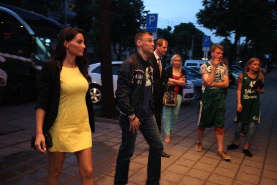 Asmeninio albumo nuotr./Šarūnas Jasikevičius su žmona