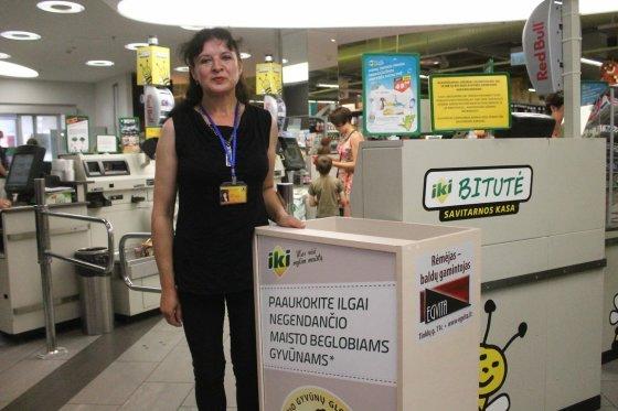 """Tomo Markelevičiaus nuotr./Aukų dėžė prekybos centre """"Iki"""""""