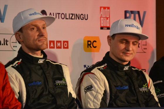 """Rūtos Nedzelskienės nuotr./""""Halls Winter Rally 2015"""" spaudos konferencija"""