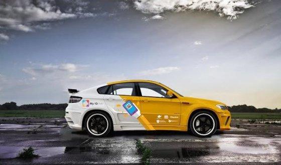 "Komandos nuotr./""My iQ Live Racing Team"" komandos BMW X6M"