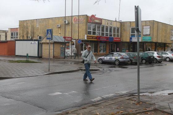 Tomo Markelevičiaus nuotr./Pėsčiųjų perėja ties Statybininkų g. 56-uoju namu